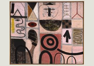 Adolph Gottlieb (1903–1974), The Seer, 1950, Öl auf Leinwand 151,2 x 181,9 cm, The Phillips Collection, Washington, Erworben 1952