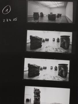 Image: Contact print of the exhibition Peter Fischli und David Weiss at Kunsthalle Basel, 1985.