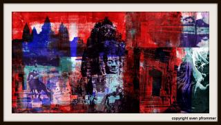 """Cambodia Edge III"", Other/ Multi disciplinary, Mixed Media, 140 x 70 x 3 cm"