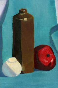 Still life with red apple