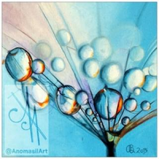 10025-mdrp1 - Oil Painting - Set of Drops, 1