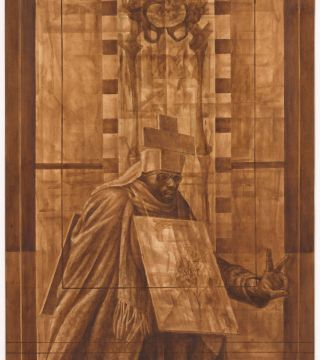 Charles White—Leonardo da Vinci. Curated by David Hammons
