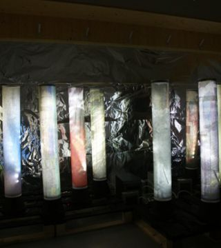 Installation the Flow of Time - das Murmeln der Farben