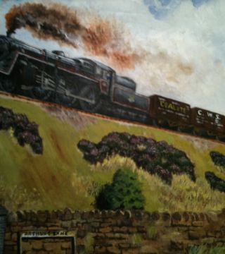 Storming Greenfield bank (almost completed painting)