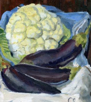 Still Life With Aubergines