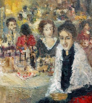 Portrait At The Restaurant