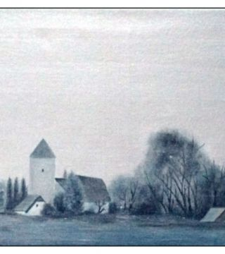 10032-chntz - Oil Painting - The Church of Notitz