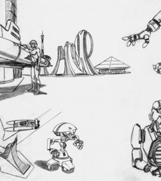 science fiction drawings