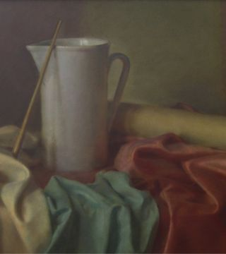 Still life with the white jug