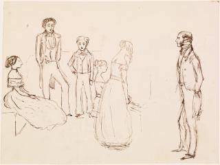 Sketch of an Evening Party by John Everett Millais, 1850 - 1851