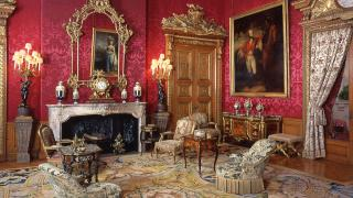 Red Drawing Room at Waddesdon Manor, The Rothschild Collection (The National Trust) © The National Trust, Waddesdon Manor