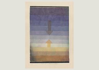 Paul Klee, Separation in the Evening, 1922, 79, watercolour and pencil on paper on cardboard, 33,5 x 23,2 cm, Zentrum Paul Klee, Bern, donation Livia Klee
