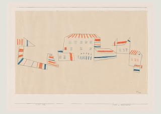 Paul Klee, Hotel in the South of France, 1927, 198, chalk on paper on cardboard, 20,9 x 33,1 cm, Zentrum Paul Klee, Bern, Donation Livia Klee