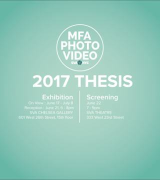 MFA Photography, Video and Related Media 2017 Thesis Exhibition