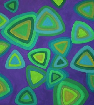 Green Triangles on Purple